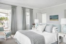 elegantes schlafzimmer in grau blau mit bild kaufen