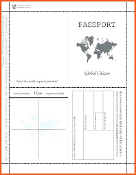 Fake Passport Template Photo Psd For Resume Word This Is P Free