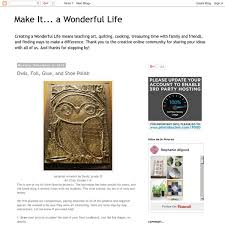 Make It A Wonderful Life by Owls Foil Glue And Shoe Polish Pearltrees
