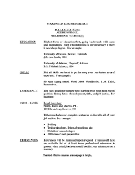 Resume Samples Without College Degree