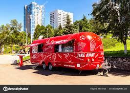 100 Snack Truck Samara Russia June 2018 Food Mobile Drink Van Stock