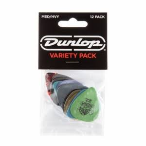 Dunlop PVP102 Med Heavy Guitar Pick Variety Pack - 12 Count