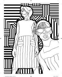 Outside The Lines Is A Coloring Book For Adults Designed By Artists