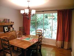 Dining Room Drapes Ideas Curtain For Curtains With Gorgeous Red Brown Accent Formal