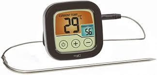 tfa dostmann 14 1509 01 digitales grill und bratenthermometer mit farbigem touchdisplay kunststoff schwarz