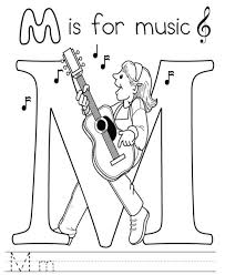 Music Free Alphabet Coloring Pages