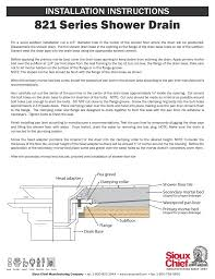 Sioux Chief Floor Drain Replacement Strainer by Sioux Chief 821 Series Shower Drain User Manual 1 Page