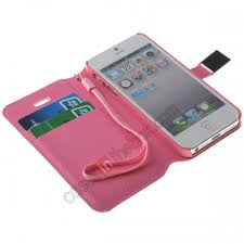 Cute Pretty Girl Flip Wallet Leather Case Cover For iPhone 5 5S