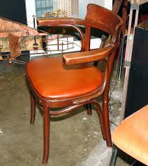 Thonet Bentwood Chair Cane Seat by Pair Of Thonet Bentwood Cafe Chairs With New Leather Seat Vintage