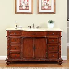 60 Inch Bathroom Vanity Single Sink Top by Shop Silkroad Exclusive Victoria Cherry Undermount Single Sink
