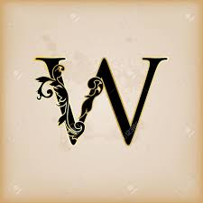 Vintage Initials Letter W Royalty Free Cliparts Vectors And