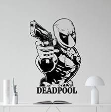 amazon com deadpool wall decal marvel comics superhero movie