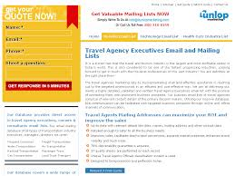 Travel Agency Executives Email List