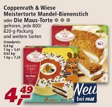 coppenrath wiese meister torte mandel bienenstich 800g