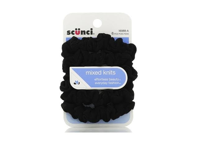 Scunci Effortless Beauty Mini Slinky Twisters - Black, Pieces