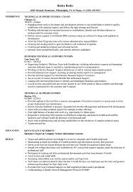 Download Technical Support Intern Resume Sample As Image File
