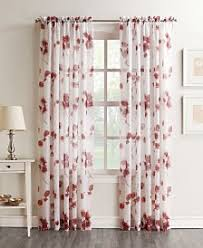 Blue Crushed Voile Curtains by Sheers Curtains And Window Treatments Macy U0027s