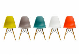 chaises charles eames dsw multicolor