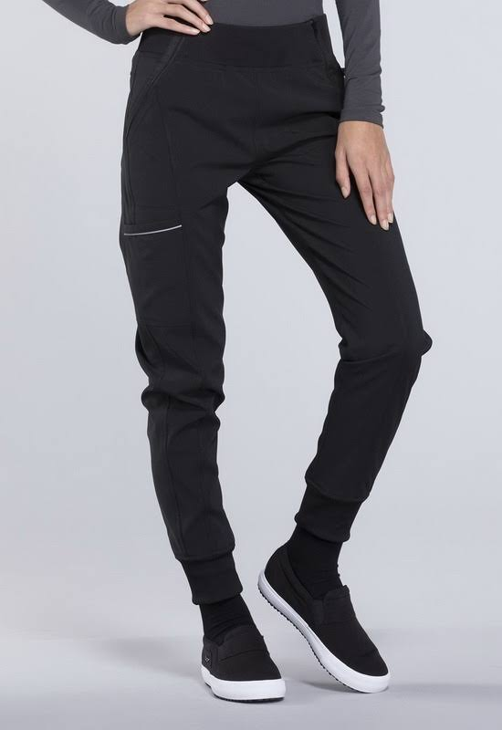 Cherokee CK110A Mid Rise Tapered Leg Jogger Pant - Black - M