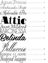 50 Best Fonts