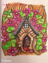 From Big Kids Coloring Book Fairy Houses And Doors By Dawn D First Picture In Derwent Inktense Blocks Prismacolor Premier Pencils White Posca