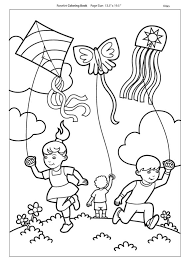 Coloring Pictures Of A Kite Alltoys For
