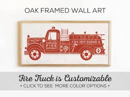 100 Fire Truck Wall Art Bedroom Decor Our Custom Engine Is