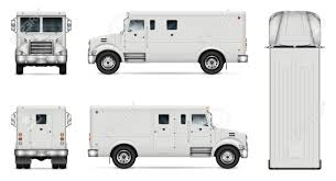 100 Armored Truck Vector Mockup Isolated Template Of Armor Van