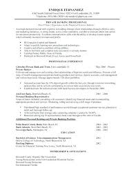 Investment Banking Resume Example Business Banker Template Personal Samples Analyst Sample