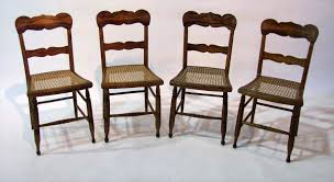 Tall Ladder Back Chairs With Rush Seats by Lot 44 Set Grain Ptd Chairs Jpg
