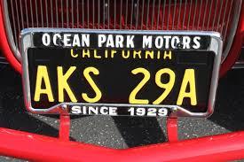 California Plates Back In Black Hot Rod Network