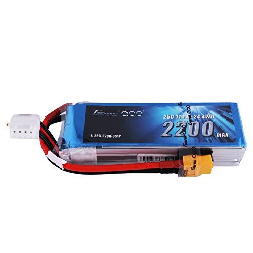 Gens Ace LiPo Battery Pack - 25c, 11.1v, 2200mah, 3s, with XT60 Plug