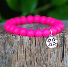 Catherine Neon Pink Rustic Cuff