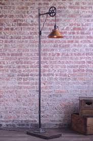 pulley floor l copper shade edison bulb industrial danielle