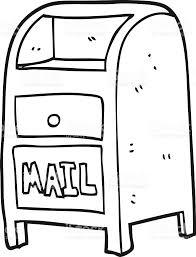 black and white cartoon mail box royalty free black and white cartoon mail box stock