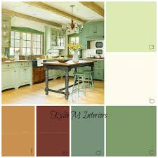 House Farmhouse Interior Colors For Ideas Rustic Or Country Style Kitchen Cabinets Benjamin Moore Guilford