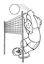 Practice Volleyball Coloring Page