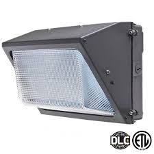 Axis LED Lighting 28 Watt Bronze 5000K LED Outdoor Wall Pack with Glass Refractor Natural White AEP28WPDS The Home Depot