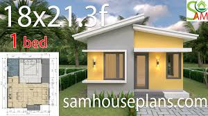 100 One Bedroom Design Small House Design Plans 18x213 Feet With Shad Roof Sam House Plans
