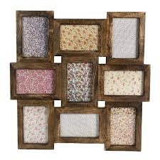 Wall Collage Rustic Wood Multi Photo Frame