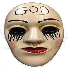 The Purge God Mask Halloween by The Purge Anarchy U0027god U0027 Universal Halloween Mask With Elasticated