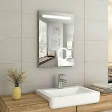 details zu badezimmerspiegel 50x70 led badspiegel mit beleuchtung knopfschalter wandspiegel