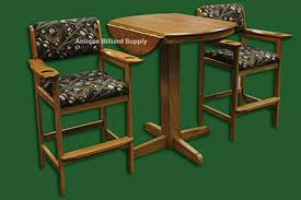 antique billiard supply spectator chairs and table oak