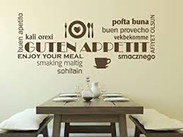 wandtattoo guten appetit wortwolke nr 1 küche esszimmer küchenaufkleber wandbanner größe 60x26 farbe schwarz