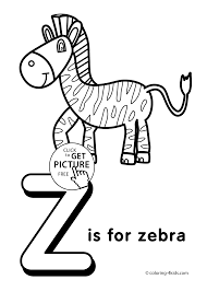 Letter Z Coloring Pages Alphabet Words For Kids