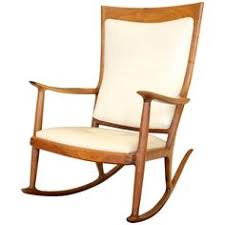 Sam Maloof Rocking Chair Plans by Maloof Style Rocking Chair Custom Rocking Chair Showing Detail Of