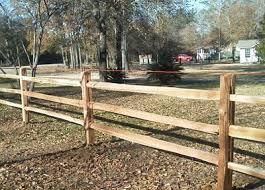 Rural Cedar Split Log Fencing