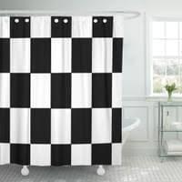pkqwtm checker texturiertes schachbrettmuster schwarz weiß schachbrett check badezimmer dekor bad duschvorhang 150x180 cm
