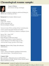 Technologist Resume X Ray Examples For