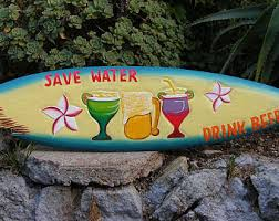Decorative Surfboard With Shark Bite by 5ft Blonde Shark Bait Surfboard Sign With Shark Bite